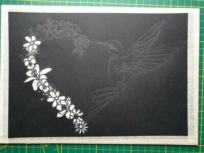 How to cut a piece of papercutting. 5. Humming Heart - Step 4