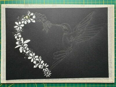How to cut a piece of papercutting. 5. Humming Heart - Step 5