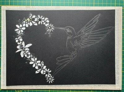 How to cut a piece of papercutting. 5. Humming Heart - Step 6