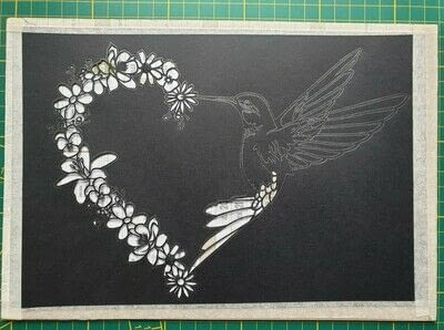 How to cut a piece of papercutting. 5. Humming Heart - Step 7
