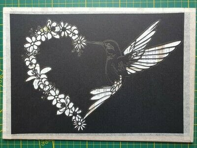 How to cut a piece of papercutting. 5. Humming Heart - Step 8