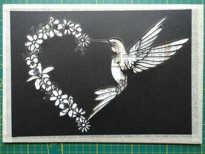 How to cut a piece of papercutting. 5. Humming Heart - Step 9