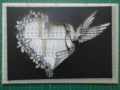 How to cut a piece of papercutting. 5. Humming Heart - Step 10