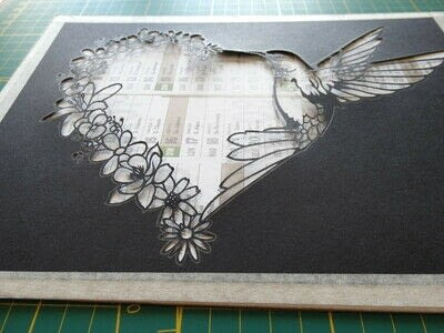 How to cut a piece of papercutting. 5. Humming Heart - Step 11