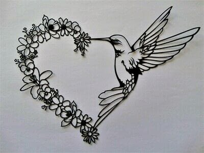 How to cut a piece of papercutting. 5. Humming Heart - Step 12
