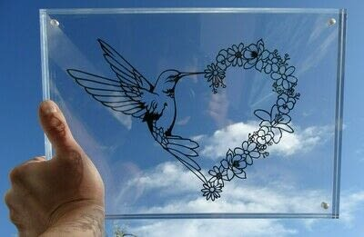 How to cut a piece of papercutting. 5. Humming Heart - Step 13