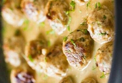 How to cook a meatball. Turkey Meatballs In Creamy Sauce - Step 7