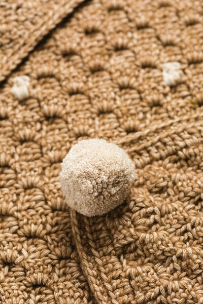 How to stitch a knit or crochet blanket. Deer Blanket - Step 10