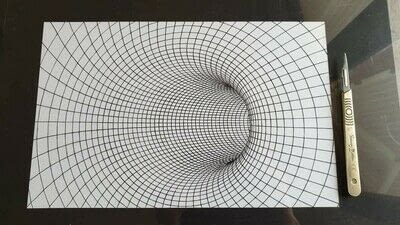 How to cut a piece of papercutting. 7. Inside The Wormhole - Step 10