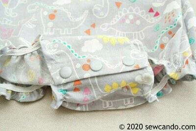 How to sew a romper. Easy Any Size Baby Bubble Romper - Step 18