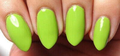 How to paint a nail painting. Lime Light - Step 1