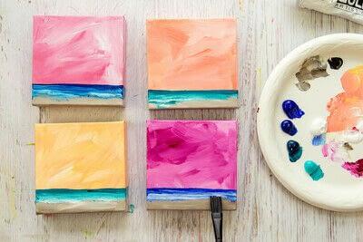 How to paint a landscape. Infinite Blues - Step 4