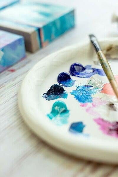 How to paint a landscape. Infinite Blues - Step 5