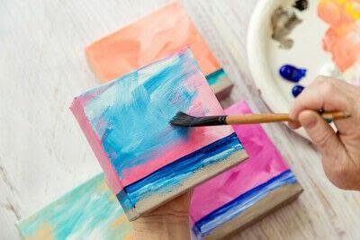 How to paint a landscape. Infinite Blues - Step 6