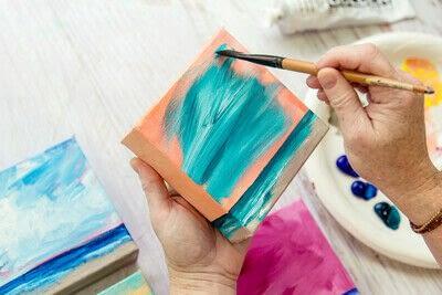How to paint a landscape. Infinite Blues - Step 7
