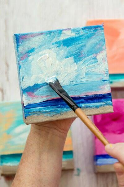 How to paint a landscape. Infinite Blues - Step 8