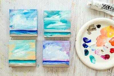 How to paint a landscape. Infinite Blues - Step 9