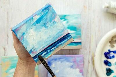 How to paint a landscape. Infinite Blues - Step 10