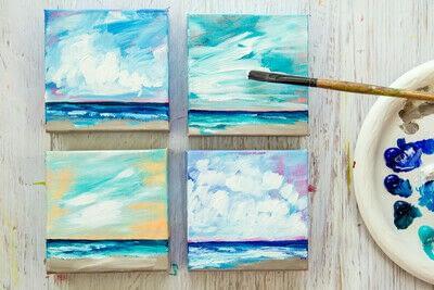 How to paint a landscape. Infinite Blues - Step 11