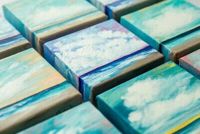 How to paint a landscape. Infinite Blues - Step 12
