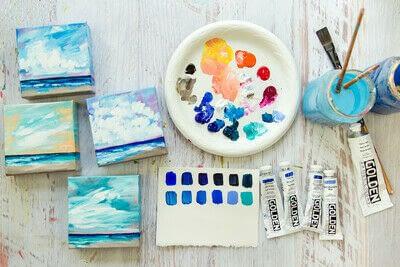 How to paint a landscape. Infinite Blues - Step 13