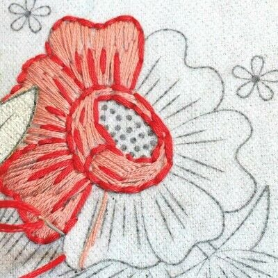 How to embroider art. Stitch A Flower Crown - Step 2
