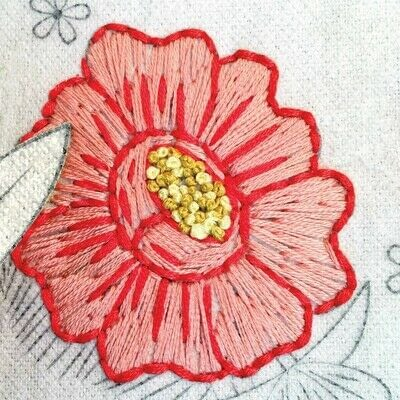How to embroider art. Stitch A Flower Crown - Step 3