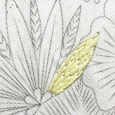 How to embroider art. Stitch A Flower Crown - Step 4