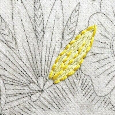 How to embroider art. Stitch A Flower Crown - Step 5