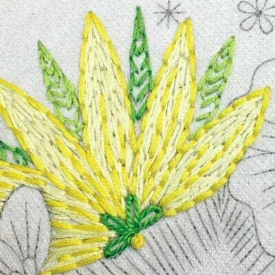How to embroider art. Stitch A Flower Crown - Step 6