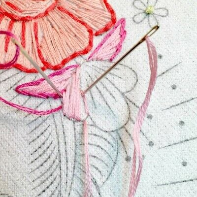 How to embroider art. Stitch A Flower Crown - Step 7
