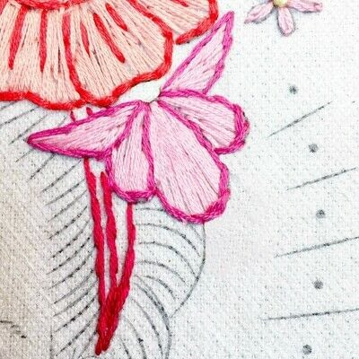 How to embroider art. Stitch A Flower Crown - Step 8