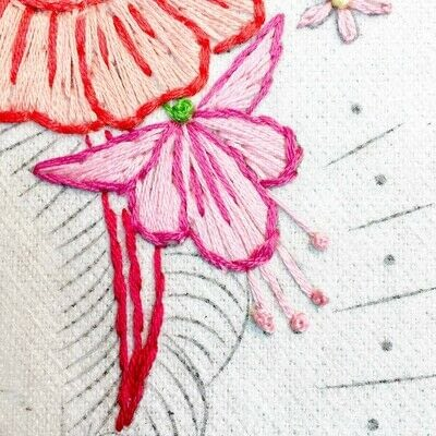 How to embroider art. Stitch A Flower Crown - Step 9