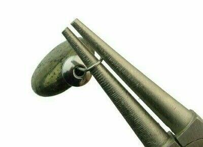 How to make a hoop earring. Pyrite & Black Obsidian Hoop Earrings - Step 5