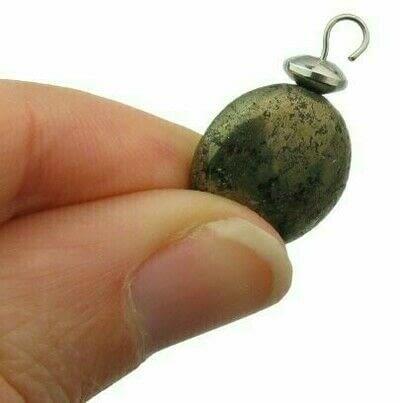 How to make a hoop earring. Pyrite & Black Obsidian Hoop Earrings - Step 6