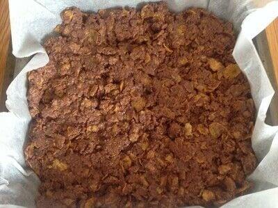 How to bake a bar / slice. Peanut Butter & Cornflake Slice - Step 3