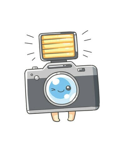 How to create a drawing or painting. Cute Kawaii Camera - Step 8