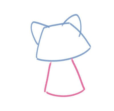 How to create a drawing or painting. Cute Kawaii Raccoon - Step 3