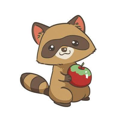 How to create a drawing or painting. Cute Kawaii Raccoon - Step 8