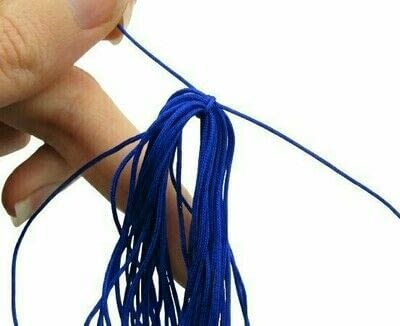 How to make a gemstone necklace. Lapis Lazuli & Tiger's Eye Tassel Necklace - Step 3