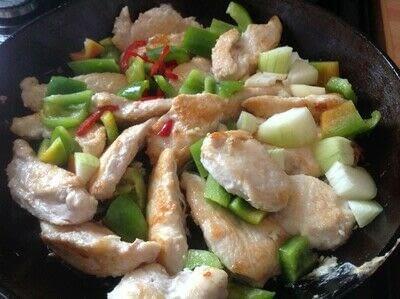 How to cook a chicken dish. Salt & Chilli Chicken - Step 3