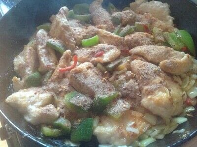 How to cook a chicken dish. Salt & Chilli Chicken - Step 4