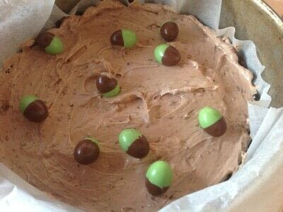How to bake a cheesecake. Chocolate & Mint Cheesecake  - Step 5