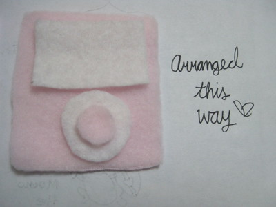 How to make a gadget plushie. Sweet Ipod Plushies - Step 4