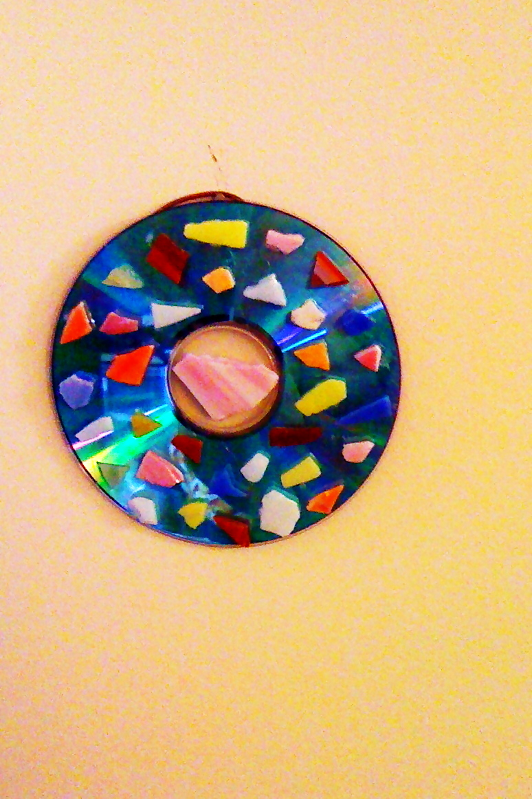 Recycled Cd Wall Decor · A Vinyl Record · Mosaic on Cut Out + Keep
