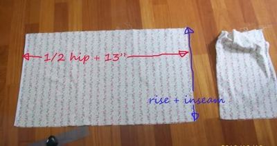 How to sew a pair of bloomers. Simple Bloomers - Step 2