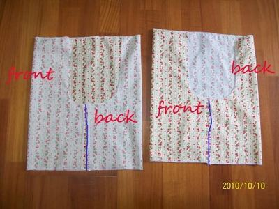 How to sew a pair of bloomers. Simple Bloomers - Step 4