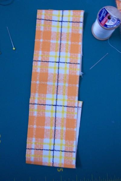 How to make a phone case. Orange Phone Cozy - Step 3