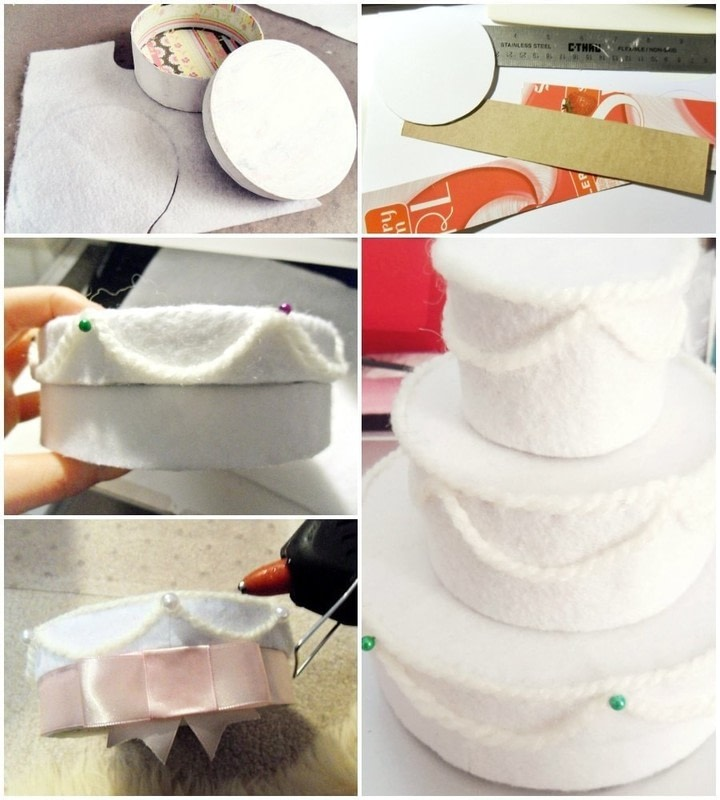 Felt Wedding Cake Gift Box How To Make A Decoration Needlework