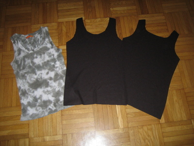 How to make a tank top. Pin Up Bow Front Tank Top - Step 1